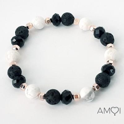 Bracelet Carla - Howlite - Amoi Bijoux