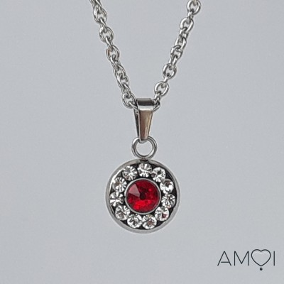 Collier court Ana 5 - light siam -  Amoi Bijoux