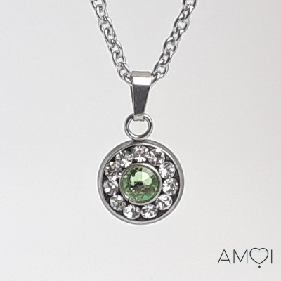 Collier court Ana 5 - péridot -  Amoi Bijoux